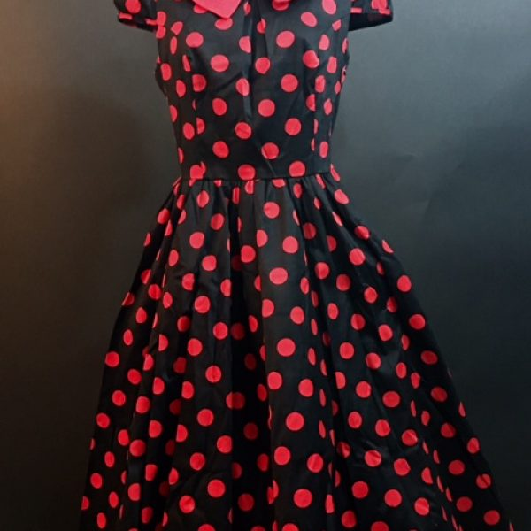 672a24b1556 50 s Black and Red Polka Dot Dress - Hollywood Costumes