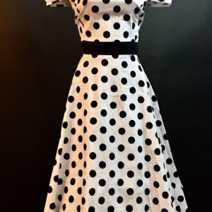 1950's White and Black Polka Dot/Lucy Dress