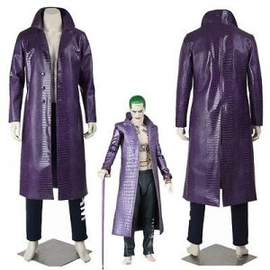 Adult Deluxe Joker Suicide Squad Cosplay Trench Coat