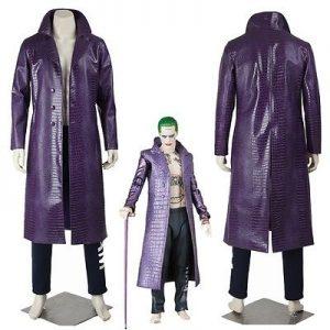 Adult Deluxe Joker Suicide Squad Cosplay Trench Coat