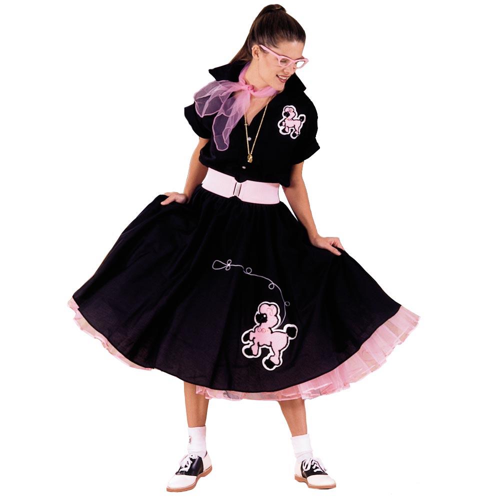 1950s Fashion Poodle Shirt And Skirt