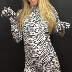 White Tiger Morph Suit and Mask