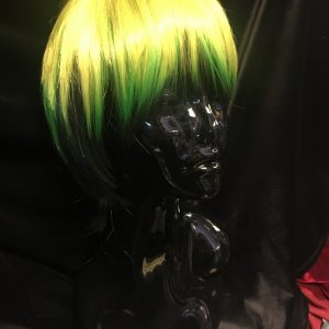 Short Green and Black wig