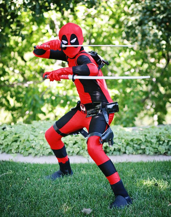 Deadpool Ultra Deluxe Costume kids/Teen - Hollywood Costumes