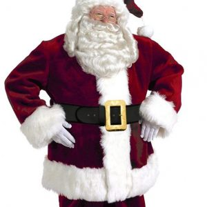 Deluxe Burgundy Santa Suit Sc 1 St Hollywood Costumes